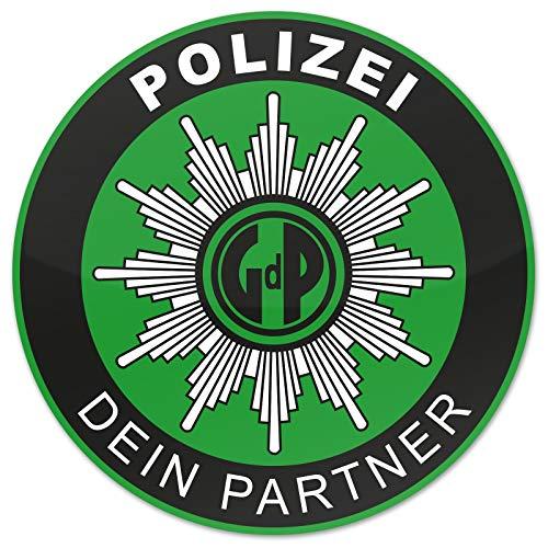 Polizei GDP 2X Aufkleber Außen Knöllchenstop Gewerkschaft Sticker Grün