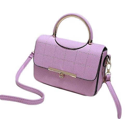Spalla Borsa Mobile Messenger Borsa Casual Moda Selvaggio Signore Piccolo Pacchetto Quadrato Purple