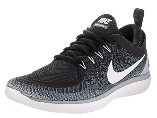 Nike Women's Free Rn Distance 2 Running, Chaussures de Fitness Femme Multicolore (Black/white-cool Grey-dark Grey)