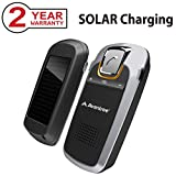 [Upgrade Version] Avantree Car Bluetooth Kit with Solar Charger, Wireless Handsfree Visor Speakerphone, Support GPS and Music - Sunday Plus
