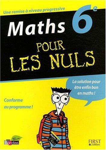 Maths 6e pour les nuls par Cédric Bertone