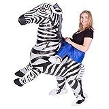 Bodysocks - Costume da zebra gonfiabile, per adulti