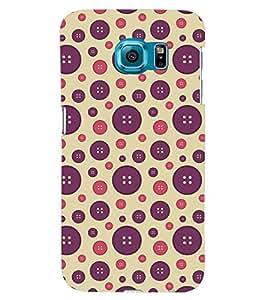 Printvisa Dual Colour Circular Pattern Back Case Cover for Samsung Galaxy S6 Edge+ G928::Samsung Galaxy S6 Edge Plus G928F