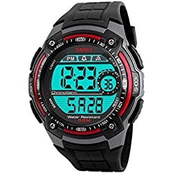 Men Wrist watch - SKMEI Men Fashion Waterproof Outdoor Sports Wrist watch Red