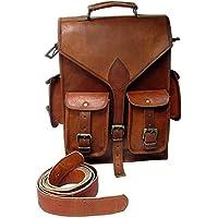 Shakun Leather mochilla, bolsa del fin de semana vintage Piel hecha a mano, un tamaño, NUEVO