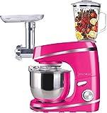 3 in 1 Küchenmaschine Standmixer Fleischwolf Rühr Maschine Gerät NEU & OVP (Rosa)