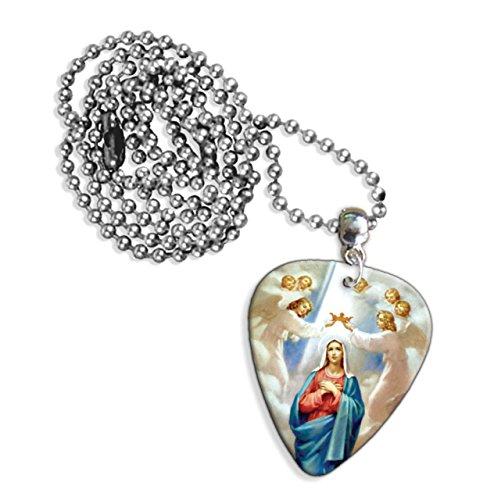 virgin-mary-christian-logo-collar-de-pua-de-guitarra-gd