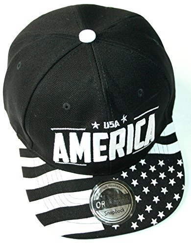 STARS & STRIPES SNAPBACK CAP - (AMERICA) (Usa Headwear)