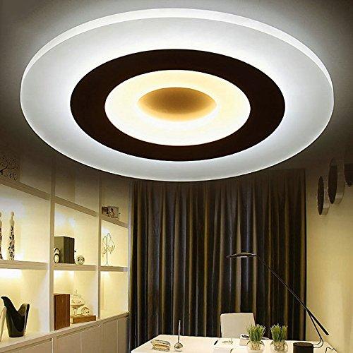SSBY Ultra-dünne LED-Deckenleuchten moderne, minimalistische kreativ acryl runde Romantik Bücher Eigentümer Schlafzimmer Esszimmer Lampe 45cm