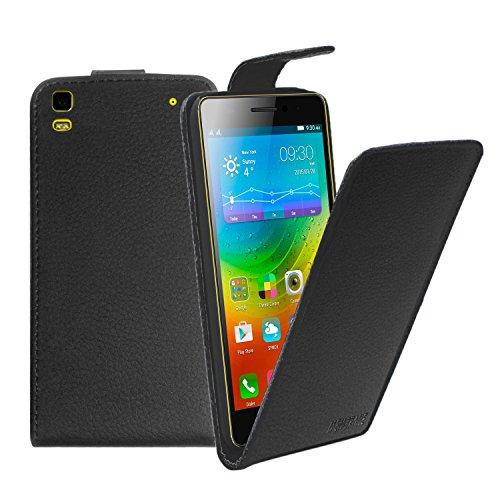 Membrane - Negro Funda Carcasa para Lenovo K3 Note (K50-t5) - Flip Case Cover