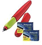 Pelikan Twist (Tintenroller + Patronen, Rot)