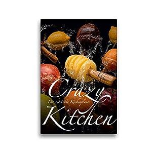 Premium Textil-Leinwand 30 x 45 cm Hoch-Format Crazy Kitchen - Der verrückte Küchenplaner | Wandbild, HD-Bild auf Keilrahmen, Fertigbild auf hochwertigem Vlies, Leinwanddruck von Olaf Bruhn