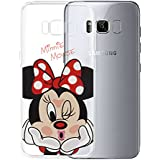 """Samsung Galaxy S8 Galaxy S8 Plus 6.2"""" Caso HCN PHONE Cubierta de silicona TPU Transparente Ultra Fina Dibujo animados bonito Tema Navidad para Samsung Galaxy S8 Galaxy S8 plus 6.2"""" - Minnie Mouse"""
