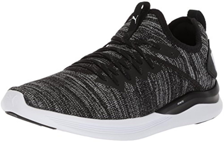 PUMA Men's Ignite Flash Evoknit Sneaker  Black Asphalt White  10 M US