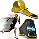 ( Yellow ) Samsung I9300I Galaxy S3 Neo Universal Sports Lauf Jogging Ridding Bike Cycling Gym Arm-Band-Kasten-Beutel-Abdeckung von Spyrox