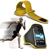 ( Yellow ) Acer Liquid Z500 Protective Stylish Fitted Sport Armbänder mit dem Fahrrad Radfahren Fitnessstudio Joggen abzugewöhnen Armband Case Cover von ONX3