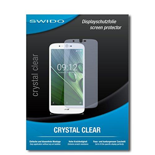 SWIDO Schutzfolie für Acer Liquid Zest Plus [2 Stück] Kristall-Klar, Hoher Härtegrad, Schutz vor Öl, Staub & Kratzer/Glasfolie, Bildschirmschutz, Bildschirmschutzfolie, Panzerglas-Folie