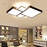 Renshengyizhan@ Geometrische moderne LED Deckenleuchten für Wohnzimmer Schlafzimmer AC85~265V Schwarz + Weiß Deckenleuchte Home Decor Leuchten, Schwarz und Weiß Körper 550x550mm