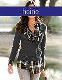 Heine Damen-Jacke Strickjacke Grau Größe 40