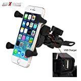 #4: AllExtreme Plastic Universal Mobile Phone Mount With 360 Degree Rotation for Bikes (Black)
