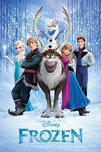 Frozen Disney Film Cast Poster 91,5 X 61cm (36 24 X CM