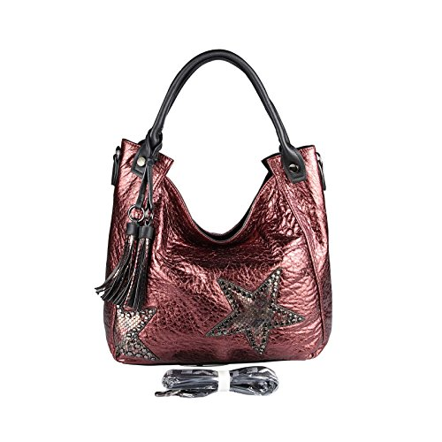 OBC Only-Beautiful-Couture, Borsa a spalla donna marrone bronzo ca.: 42x30x13 cm (BxHxT) Bordeaux