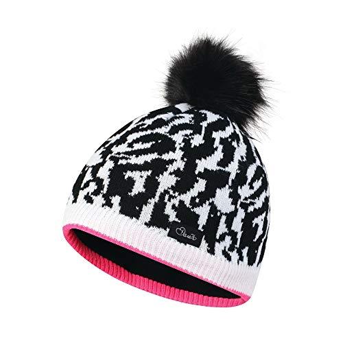 Dare 2b Girls Splendid Acrylic Knit Bobble Beanie Hat Acrylic Knit Beanie