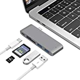 #10: Type-C USB 3.1 5 in 1 Combo Hub for MacBook, Aluminum Multi-Port Adapter with USB-C Charging Port, 3 USB 3.0 Ports, SD/Micro Card Reader