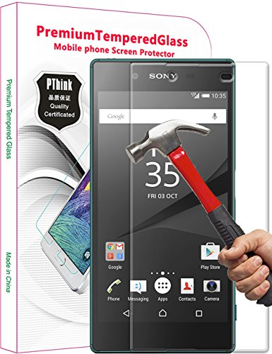 xperia-z5-screen-protector-pthinkr-tempered-glass-screen-protector-for-sony-xperia-z5-52-inch-not-fo