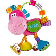 Playgro Activity Rattle Horse, Learning Toy, From 3 Months, Bpa-Free, Playgro Toy Box Horse Clip Clop, Pink/Multicoloured, 40143