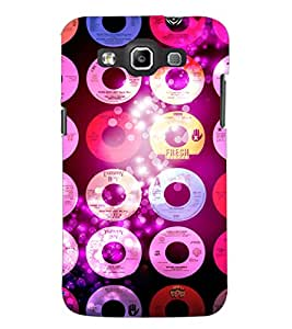 PrintDhaba CDs D-2850 Back Case Cover for SAMSUNG GALAXY WIN i8552 (Multi-Coloured)