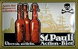 Blechschild St. Pauli Bier Brauerei Hamburg retro Schild Bierwerbung Nostalgieschild