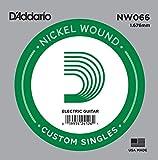 D\'Addario Corde seule avec filet en nickel pour guitare électrique D\'Addario NW066, .066