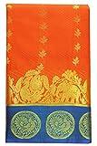 Saravanabava Silks - Kanchipuram Silks Sarees (Kanchi Korvai Model Border Art Silks Embossed Sarees SRBS02121 Orange