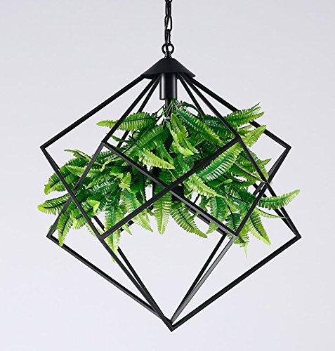 Eisen Bad Lampe (Osraed Nussbaum Anlage Kronleuchter American Country Cafe kreative Persönlichkeit Eisen Lampe Geometrie Pflanzen, Medium: 480 * 480mm)