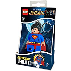 LEGO DC Comics - Llavero Ledlite con diseño de Superman, color azul y rojo (812753L)