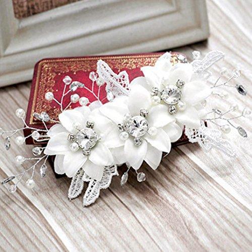Accesorios de la boda del cordón del pelo de la perla de los accesorios de la boda del cordón del tocado de la novia