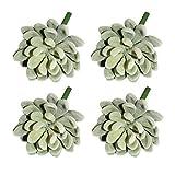 LJY 4 Pezzi realistica artificiale succulente Cactus serra Piccoli Impianti Unpotted per casa decorazione del giardino