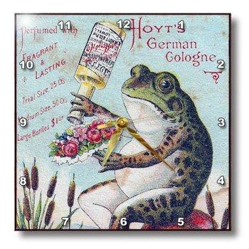 3drose DPP _ 10908_ 1Wanduhr, Vintage deutsche Frosch Köln, 10von 25,4cm