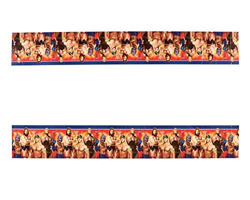 Amscan–5714671,4x 2,7m mantel de plástico para WWE