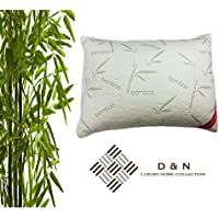 D & N Bedding Anti Bacterial Bamboo Pillow BAMBOO MEMORY FOAM PILLOW Orthopaedic Head Neck Back Pain Support 70cm x 40cm Size Maternity Anti Snoring Pain Relief Shredded Memory Pillow (1 x Bamboo Pillow)