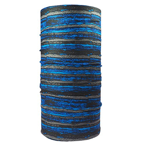 Ebos foulard multifunzionale✓sciarpa tubolare |sciarpa versatile | bandana | foulard| copricapo | versatile e intelligente | disegni diversi (strisce blu)