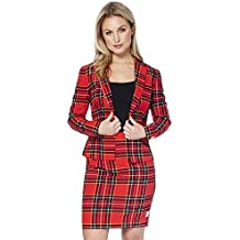 rivenditore all'ingrosso 0f8c3 dacd2 Amazon.it: giacca scozzese donna - Rosso