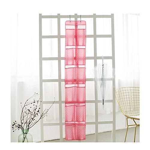 Kosmetik-schrank Tür, Der über (huijukon über der Tür Schuh Organizer zum Aufhängen Closet Organizer mit 12große Taschen rose)