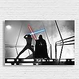 Box Prints Luke Skywalker Darth Vader Star Wars Film Retro Vintage-Stil Poster Drucken gerahmte Kunst Bild groß Klein