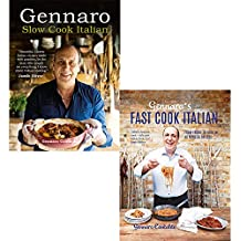 Gennaro contaldo slow cook and fast cook italian 2 books collection set