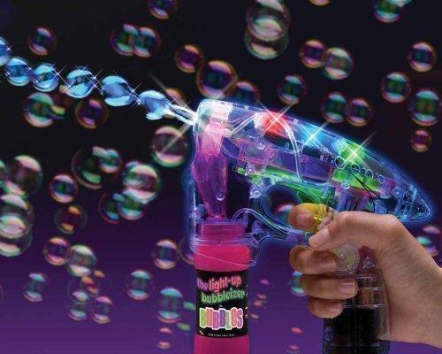 Bubble Gun Seifenblasenpistole LED Sound Seifenblasen Pistole