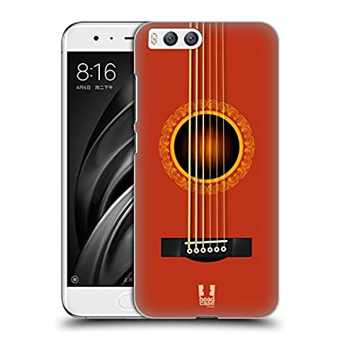 Head Case Designs Orange Guitare Acoustique Étui Coque D'Arrière Rigide Pour Xiaomi Mi 6