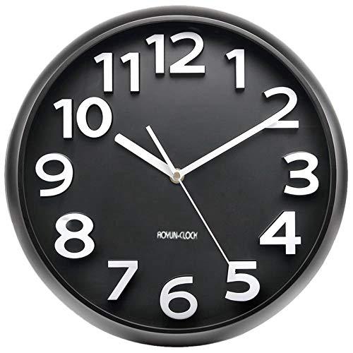 guijinpeng Wanduhr Lautlos Wanduhr Wanduhr 13 Zoll mit großen 3D-Zahlen Silent Non-Ticking Quartz Dekorative runde Uhr Batterie betrieben