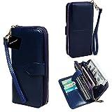 """Xhorizon TM-cerniera di grande capacità-Braccialetto in pelle a portafoglio, con cinturino da polso rimovibile per iPhone, SE/5/6/6 Plus/Samsung/S6 S6Edge S5/S7/S7Edge LG G3/G4/G5 e non più di 14,48 (5,7"""") cm   caratteristiche del prodotto:  ..."""